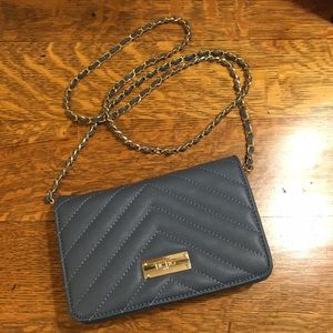 BCBG Paris Blue Chevron Purse